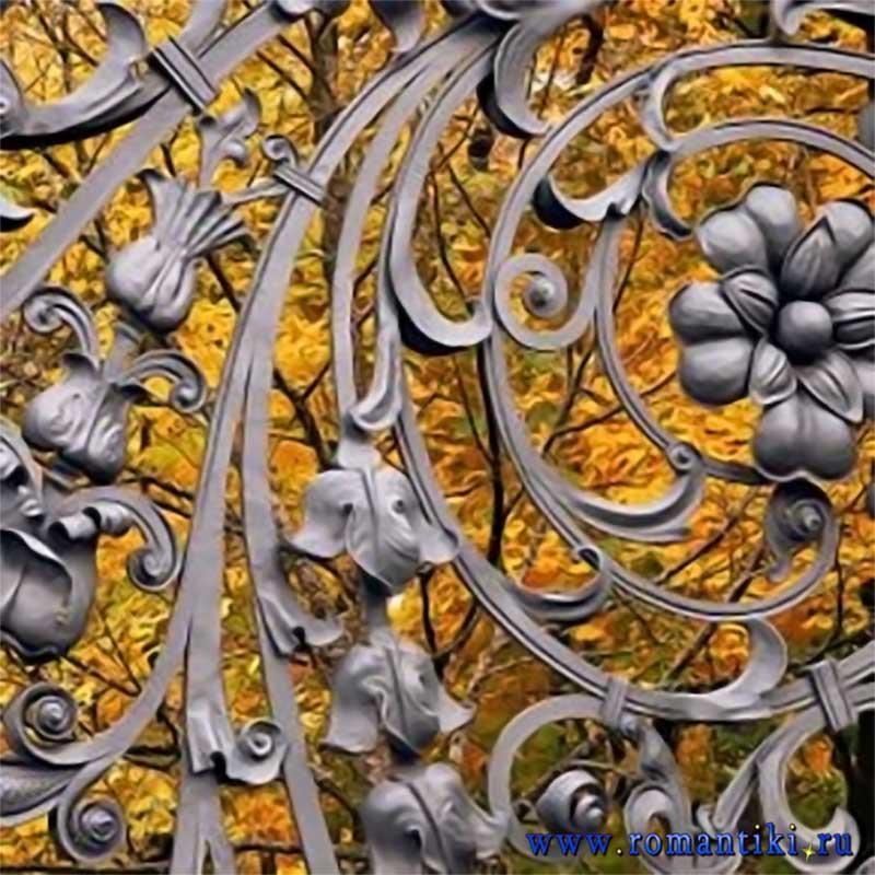 Работа реставратора О.Компаниец. Трилистник и цветок.